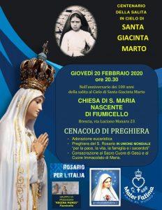 100° ANNIVERSARIO DELLA MORTE DI SANTA GIACINTA MARTO